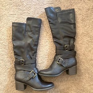 Like New: Nicole knee high brown leather boots